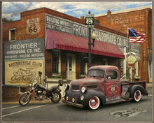 HARDWARE STORE  TRUCK & MOTOR CYCLE VINTAGE  BIRCH WOOD PRINT S/O