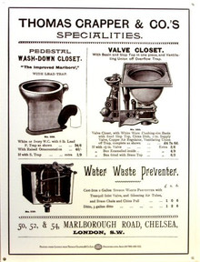 Photo of CRAPPER ENAMEL AD FOR CRAPPERS AS THEY WERE CALLED