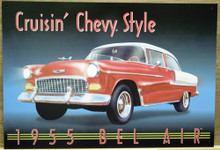 Photo of CRUSIN'S CHEVY STYLE 1955 BEL AIR GREAT COLOR AND DETAIL