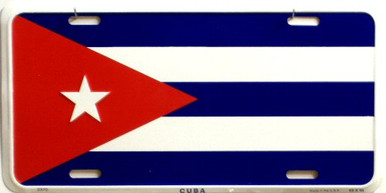 Photo of CUBA FLAG LICENSE PLATE