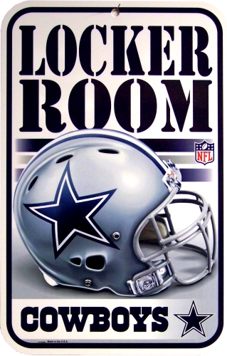 Photo of DALLAS FOOTBALL COWBOYS LOCKER ROOM SIGN HAS GREAT COLORS AND DETAIL FOR THE AVID COWBOY FAN'S COLLECTION