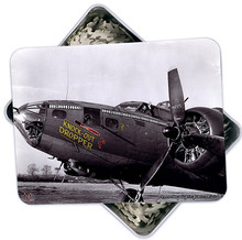 KNOCK-OUT DROPPER BOMBER NOSE ART 500 PC PUZZLE & TIN GIFT SET IN METAL BOX WITH DECORATED LID S/O