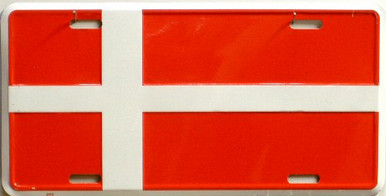 DENMARK FLAG LICENSE PLATE