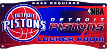 Photo of DETROIT PISTONS BASKETBALL LOCKER ROOM SIGN HAS GREAT COLORS AND CRISP DETAILS FOR ANY AVID PISTONS FAN'S COLLECTION
