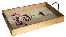I'M A WINER II VINTAGE WOOD TRAY S/O*