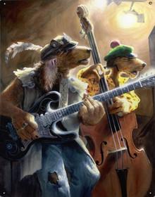 TRIPPLETON BROTHERS DOG BAND VINTAGE METAL SIGN S/O*