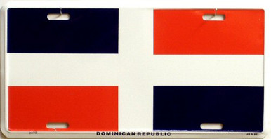 Photo of DOMINICAN REPUBLIC FLAG LICENSE PLATE