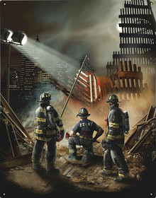 AMERICAN GRACE, 911, FIREFIGHTER METAL SIGN S/O