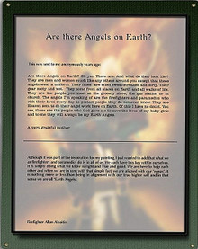 EARTH ANGELS, ARTIST STATEMENT  METAL SIGN S/O