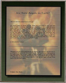 EARTH ANGELS, ARTIST STATEMENT  BIRCH WOOD PRINT S/O