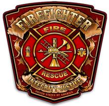 FIREFIGHTER SHIELD  BIRCH WOOD PRINT S/O   NO PIC