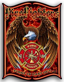 FIREFIGHTER EMBLEM METAL SIGN S/O