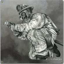 SMOKE, FIREFIGHTER METAL SIGN S/O