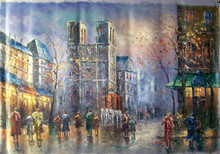Photo of DOWNTOWN CATHEDRAL MEDIUM LARGE SIZED OIL PAINTING