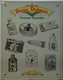 Photo of DR. DICKENSONS REMEDIES FOR ALL SORTS OF FAR FETCHED AILMENTS, MUTED COLORS AND GOOD DETAIL