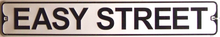 Photo of EASY STREET SMALL EMBOSSED STREET SIGN