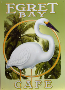 EGRET BAY CAFE SIGN HAS WARM RICH COLORS AND SHARP DETAILS