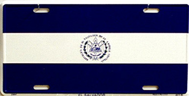 Photo of EL SALVADOR FLAG LICENSE PLATE
