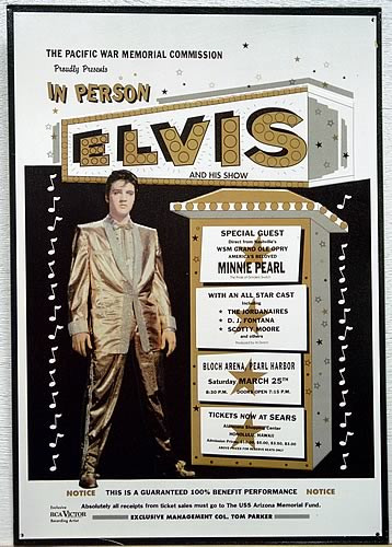 Photo of ELVIS ARIZONA MEMORIAL FUNDRAISER, ELVIS PERSONALLY HELPED RAISE THE FUNDS FOR THE U.S.S. ARIZONA MEMORIAL, HE WAS A GREAT PERSON