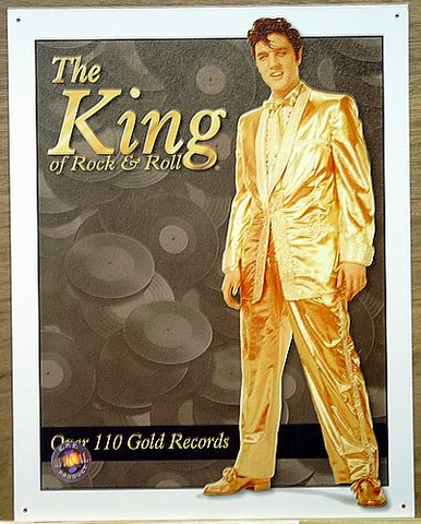 Photo of ELVIS OVER 110 GOLD RECORDS IN HIS GOLD LAME SUIT