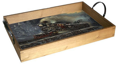 "Our Solid Wood Trays are finished with a natural stain and come with jute rope handles. These gorgeous trays are decorated with a full color birch wood insert and are a beautiful and functional addition to your living room, dining "" x room kitchen or bar. Measuring 18"" x 12""  Featuring art from our world-renowned licensees, these trays are a must-have!"". "".  THIS IS A S/O SPECIAL ORDER SIGN, ALLOW 7-10 BUSINNESS DAYS TO SHIP."