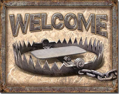 """METAL SIGN MEASURES 16"""" X 12  1/2"""" WITH HOLES FOR EASY MOUNTING"""