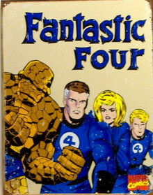 Photo of FANTASTIC 4 RETRO COMIC BOOK CHARACTERS SHOWS THE FOUR WITH THAT RETRO COMIC BOOK LOOK, GREAT SIGN, NICE COLORS AND GRAPHICS