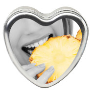 Edible Heart Shaped Massage Candle by Earthly Body-Pineapple Breeze