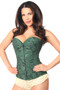 Dark Green Lavish Lace Over Bust Corset by Daisy Corsets