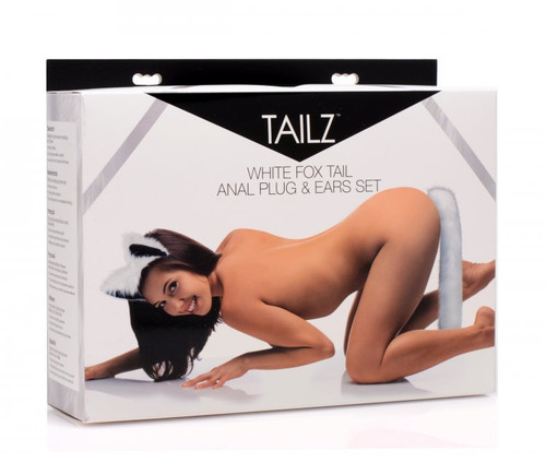 Tailz White Fox Tail Anal Plug and Ears Set by XR Brands