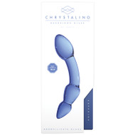 Chrystalino Blue Superior Glass Dildo Wand