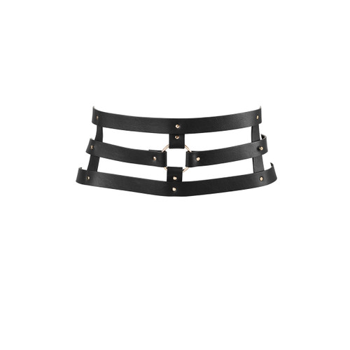 The Maze Collection Wide Belt and Restraints by Bijoux Indiscrets-Black