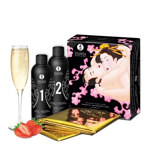 Strawberry Wine Oriental Body Slide by Shunga Erotic Art