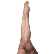 Kix'ies Samantha Nude Fishnet Thigh High Stockings
