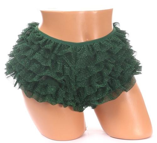 Green Glitter Ruffle Panty by Daisy Corsets