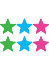 Peekaboo Neon Color Stars Pasties 3 Pack