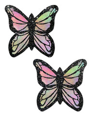 Pastease Monarch Glitter Pastel Rainbow Butterfly Nipple Pasties