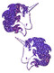Pastease Glitter Unicorn Nipple Pasties-Purple