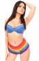 Rainbow Ruffled Panty by Daisy Corsets