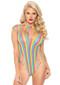 Rainbow Shredded Opaque Teddy by Leg Avenue