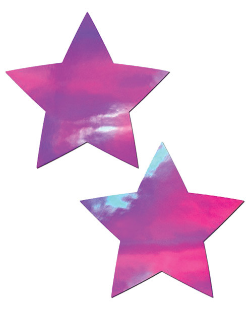 Pastease Holographic Stars Nipple Pasties-Pink