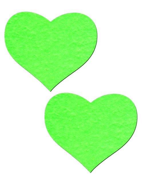 Pastease Glow In The Dark Nipple Pasties-Hearts