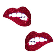 Bite Me Red Lips Nipztix Pasties