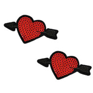 Cupid's Arrow Sequin Hearts Nipztix Pasties