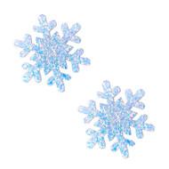 White Frost Glitter Snowflake Christmas Nipztix Pasties