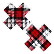 Red Plaid X Nipztix Pasties