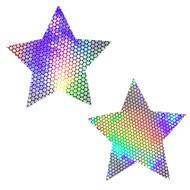Holographic Stars Nipztix Pasties