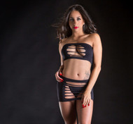 Black Tube Top and Skirt Set by Beverly Hills Naughty Girl