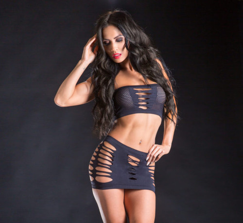 Black Top and Skirt Set by Beverly Hills Naughty Girl