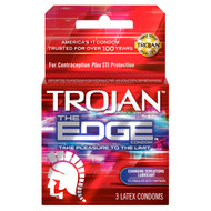 Trojan The Edge Lubricated Condoms 3 Pack